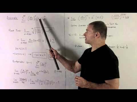 Power Series 1c - Interval of Convergence Using Root Test