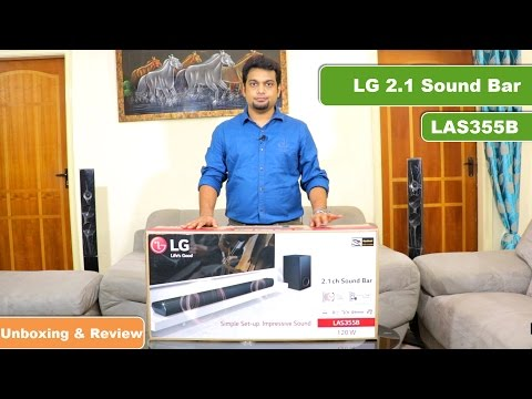 LG Sound Bar 2.1 | LAS355B | Unboxing and Review | India