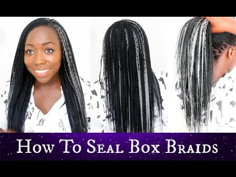 How To Seal Ends of Box Braids Your Own Hair  Best Results Natural Hair Protective Style Part 3