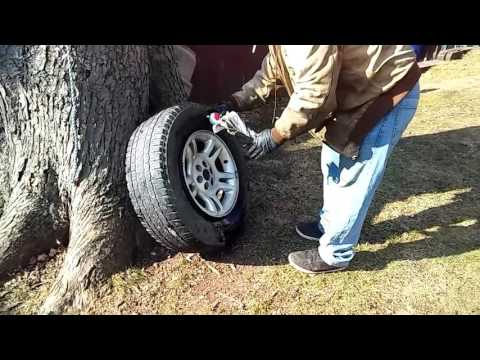 How to inflate tire without air/starting fluid