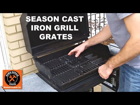 How to Season Cast Iron Grill Grates -- by Home Repair Tutor