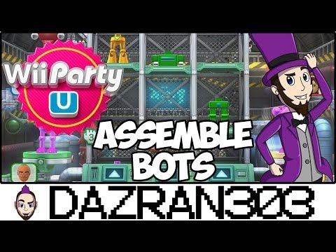Wii PARTY U | Assemble Bots Minigame | Gameplay/Commentary Dazran303