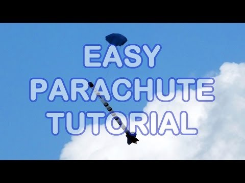How to make a parachute from plastic bags or table coverings.