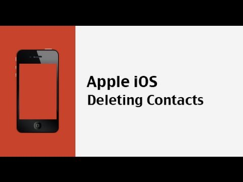 How do you delete contacts on iOS devices like iPhone, iPad and iPod Touch?