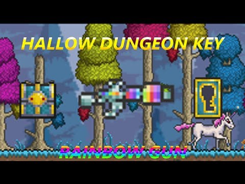 Terraria 1.2 - Hallowed Key Mold, Key, Chest and Rainbow Gun