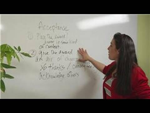 Presentation & Acceptance Speeches : Analysis of an Acceptance Speech