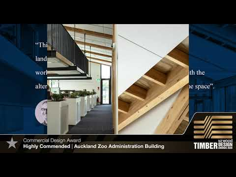 TDA 2020 Commercial Design Award Highly Commended Auckland Zoo Administration Building
