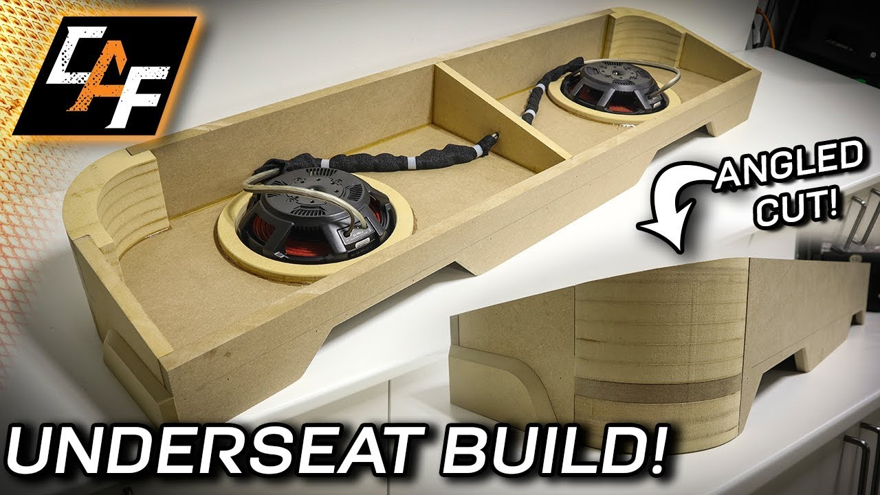 Underseat SUBWOOFER Build! How to cut ANGLE!