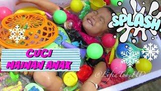 Cuci Bersih Mainan Anak ❤ Washing Time for Toys ❤ Mandi Bersama Mainan Anak @LifiaTubeHD Kids Toy