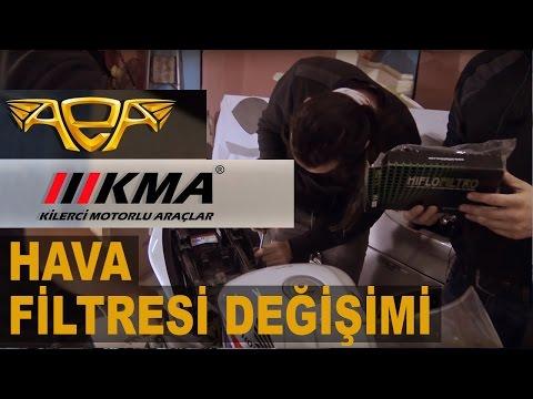 Hava Filtresi Değiştirmek (KMA, Hiflo) Changing Air Filter