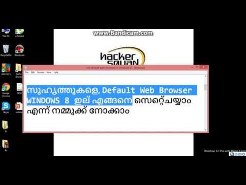 How to set Default Web Browser in Windows 8 - Malayalam Version