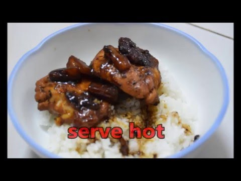 Dry chicken adobo with oyster sauce and pineapple : PINAYs' EASY RECIPE