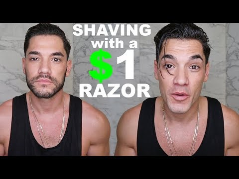SHAVING with a $1 RAZOR