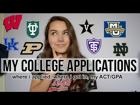 MY COLLEGE ACCEPTANCES 2018! Where I Applied to College + My ACT/GPA