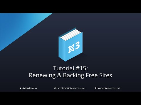 Renewing and Backing Up FREE sites - Tutorial #15