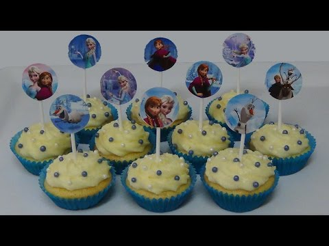 how to bake and decorate cupcake kit 'Frozen'