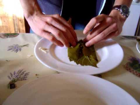 See How To Fold Stuffed Grape Vine Leaves