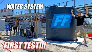 The Freedom Factory's Water System is ONLINE!!!! We've got Water!