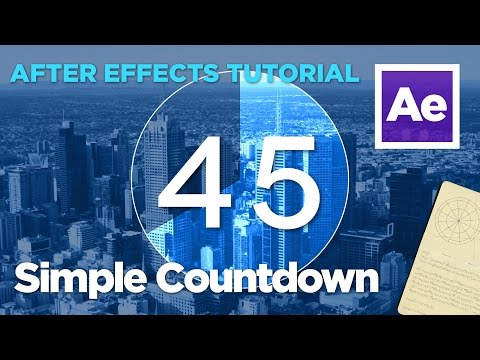 After Effects Tutorial - Simple Countdown