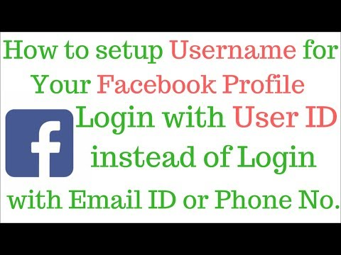 How to setup Username of Your Facebook Profile | Login with Username instead of Email or Phone