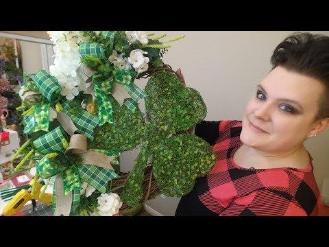 St. Patrick's Day Shamrock Grapevine Wreath