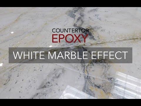 Countertop Epoxy White Marble Effect