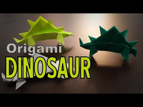 Origami - How to make a simple DINOSAUR