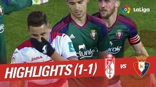 Resumen de Granada CF vs Osasuna (1-1)