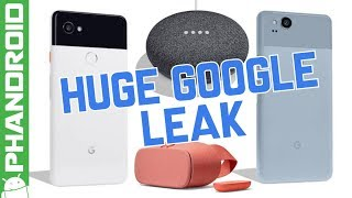 Pixel 2 XL, Pixel 2, and Google Home Mini get leaked