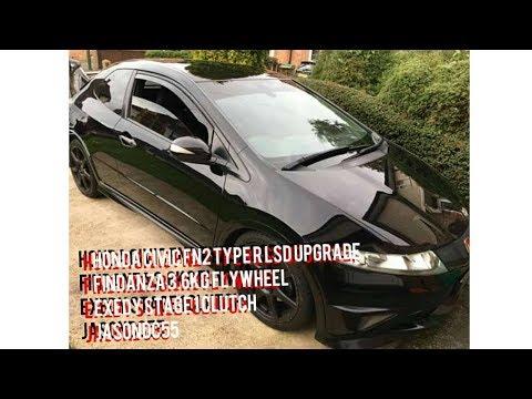 Honda Civic fn2 type R lsd upgrade fidanza 3.6kg flywheel exedy clutch kit