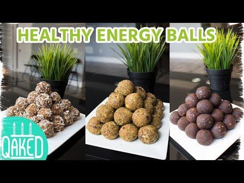 Healthy No-Bake Energy Balls 3 Ways | Healthy Desserts