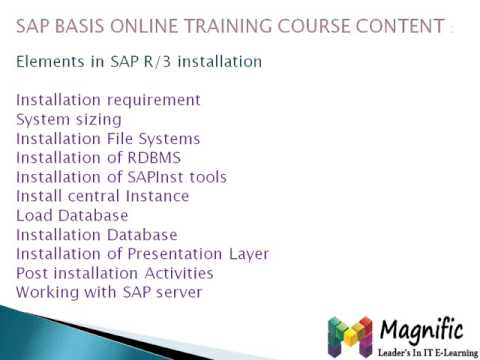 SAP BASIS Online Training in uk usa canada