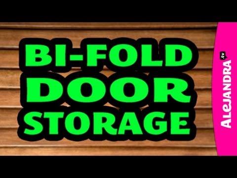 Organizing with a Bi-fold Closet Door & Adding Storage
