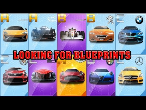 Asphalt 8 - Looking for BLUEPRINTS (New features)