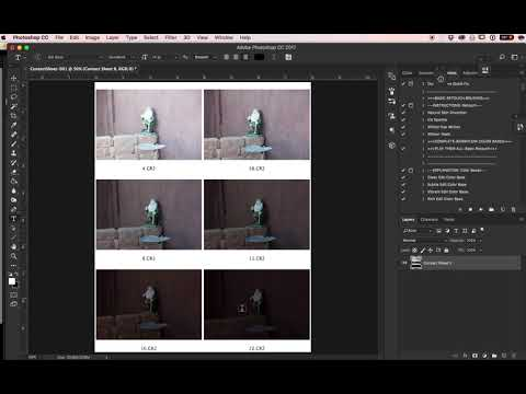 Creating Contact Sheets in Adobe Bridge CC 2017