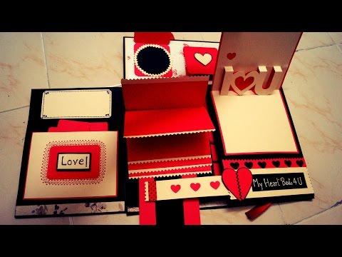 Diy crafts diy photo album for boyfriend how to make a folding.