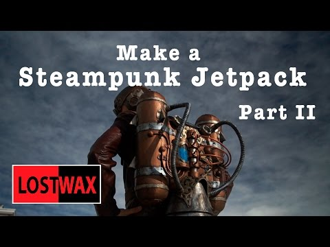 How to Make a Steampunk Jet Pack From Foam. DIY Steampunk Style.