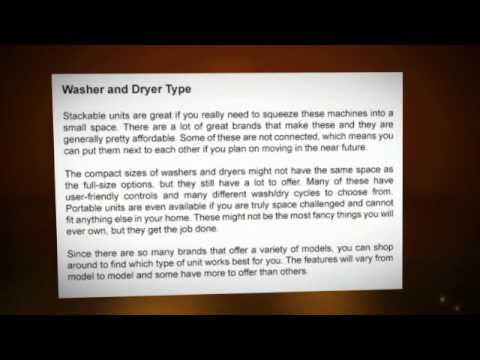 Stackable Washer Dryer -Spacemaker washer dryer