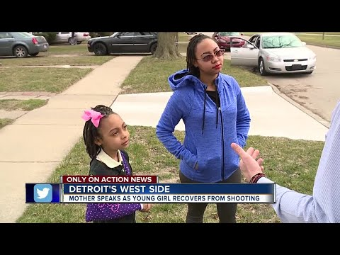 8-year-old girl speaks out after being shot in arm while on her way to school