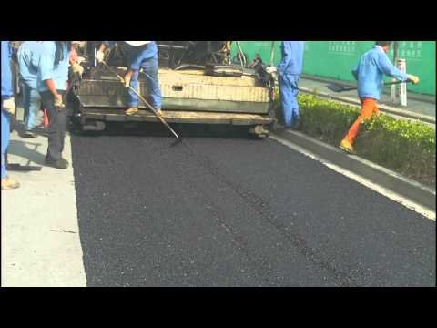 Micro paving cold mix asphalt construction video
