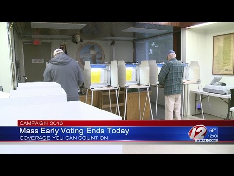 Early Voting Period Ends Today in MA