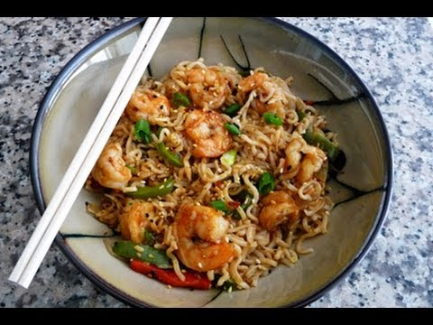 Shrimp Yakisoba Recipe (Fried noodles with Shrimp) Japanese Noodles