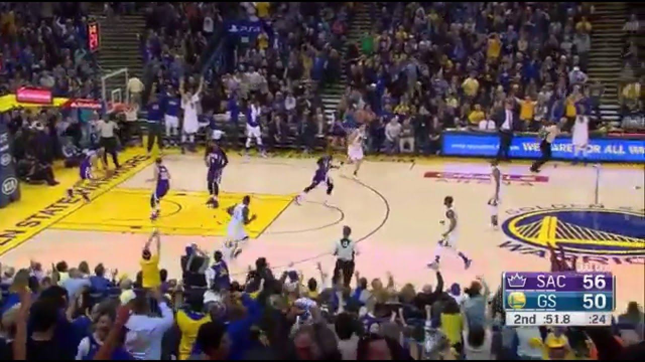 Stephen Curry 17 pts in 3 minutes 2015.12.28 vs Kings