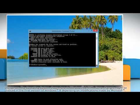 How to Run a Disk Check in Windows 8 using Command Prompt