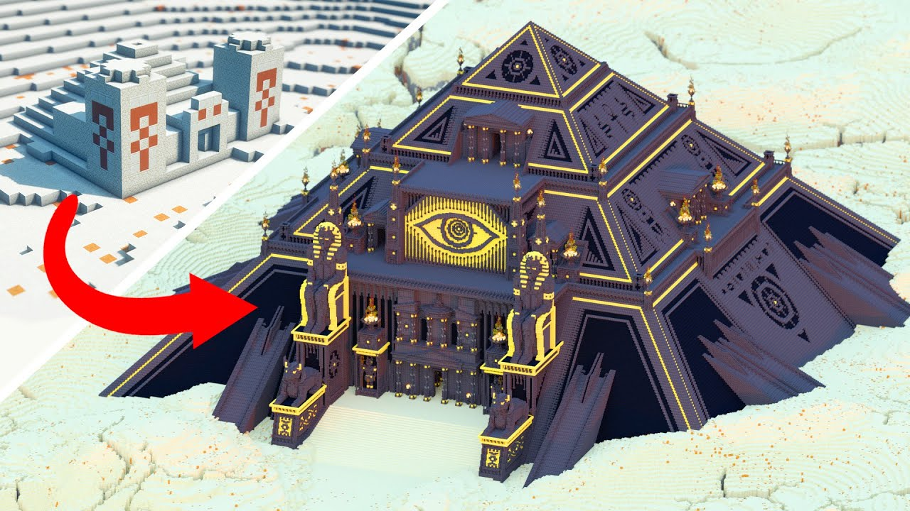 Upgrading Minecraft's Desert Temple To This EPIC Pyramid!
