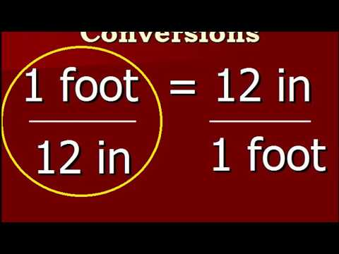 Converting feet to inches and back