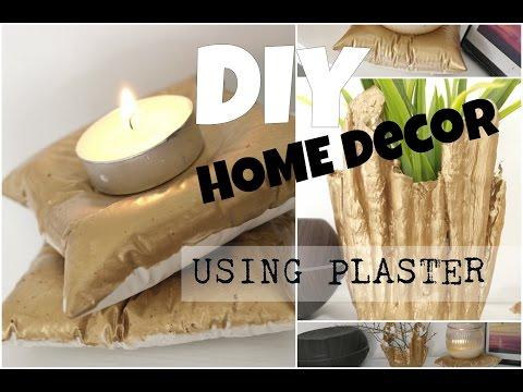 DIY Home Decor || Candle Holder & Vase || Using Plaster || 2017