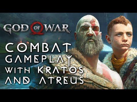 God of War - Combat Gameplay with Kratos and Atreus