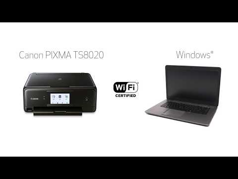 Canon PIXMA TS8020 - Easy Wireless Connect Method with a Window's Computer