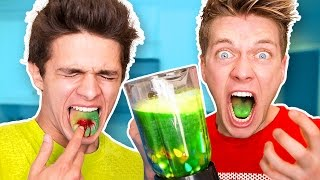 SOUREST DRINK IN THE WORLD CHALLENGE!! Warheads, Toxic Waste Smoothie (EXTREMELY DANGEROUS)